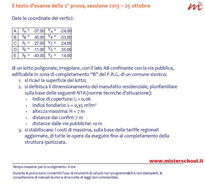testo esame abilitazione 2013 - prima prova