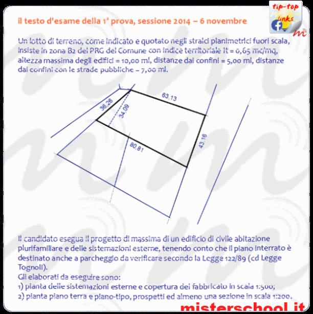 abilitazione geometri 2014 - la traccia della prima prova (testo e figura)